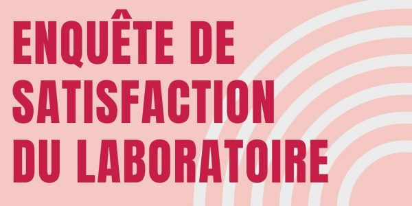 Enquête de satisfaction du laboratoire